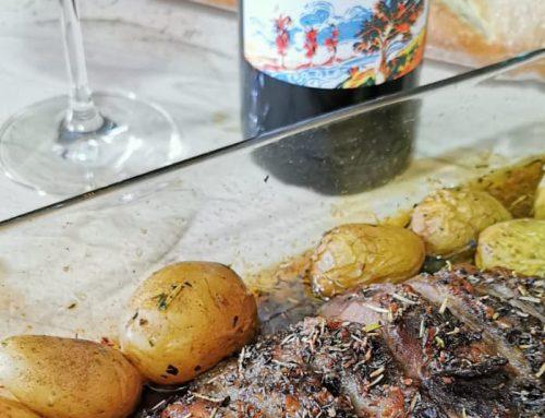 Presa ibérica con patatas al horno. ¡Brutal es poco!